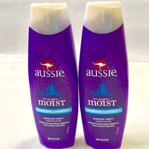 2 Aussie Mega Moist Conditioner 13.5 Fl Oz. ea.